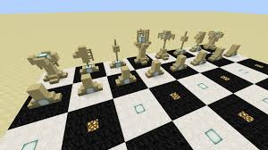minecraft chess set design and tutorial youtube