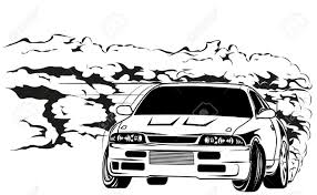 drift cars drawings drift car clipart clipartxtras