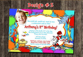 dr seuss birthday invitations cat in the hat dr seuss lorax birthday party photo invitations