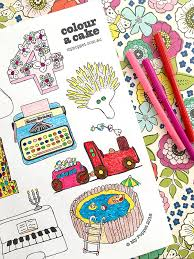 colour a cake free printable colouring page my poppet makes