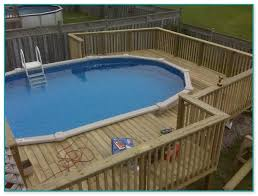 awesome above ground pool wood deck kits