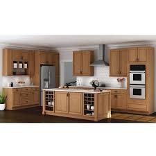 medium brown oak kitchen cabinets hton assembled 15x30x12 in wall kitchen cabinet in medium oak
