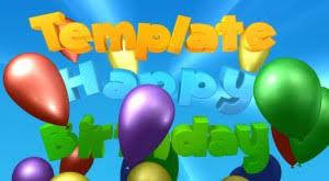 happy birthday intro cinema 4d c4d templateman