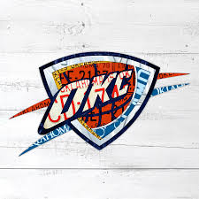 Okc Thunder Home Decor Okc Thunder Basketball Team Retro Logo Vintage Recycled Oklahoma