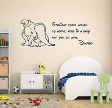 Dumbo Quote Wall Decal Disney Elephant Nursery Decor Art Mural