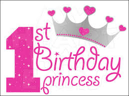 1st birthday 1st birthday princess instant digital clip my
