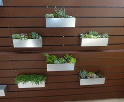 hanging fence planters gardens and landscapings decoration