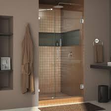 Bathroom Shower Doors Home Depot by Dreamline Unidoor 28 In X 72 In Frameless Hinged Pivot Shower