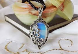victorian cameo necklace images Opalite crystal victorian cameo necklace jpg