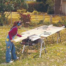 How To Make A Picnic Table Out Of 1 Sheet Of Plywood by How To Safely U0026 Easily Do Diy Work Alone Family Handyman