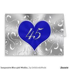45th wedding anniversary inexpensive blue 45th wedding anniversary card click http www