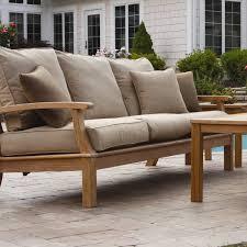 three birds casual monterey deep seating sofa with cushions