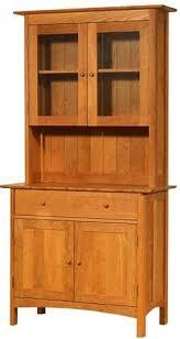 Solid Wood Buffet And Hutch Vermont Made Shaker Buffet And Hutch Solid Wood Dining Case
