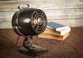 vintage fan heater table lamp desk lamp bed light night
