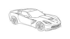 corvette coloring pages coloringsuite com
