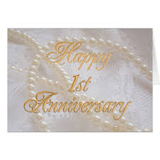 1st wedding anniversary cards invitations greeting photo