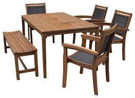 1st avenue sling and eucalyptus 6 piece outdoor dining set