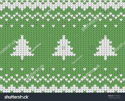 knitted seamless green christmas pattern christmas stock vector