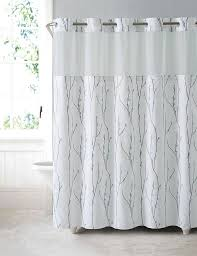 Spa Shower Curtain Hookless Shower Curtain Waterproof Peva Liner White Blue Cherry