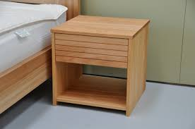 bedroom ideas square unstained teak wood bed side table with