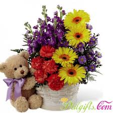 flower basket philgifts blooming flower basket with