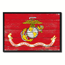 Military Home Decorations by Us Marine Corps Military Flag Shabby Chic Patriotic Wall Art Home
