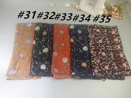 k20 10pcs high quality flower printing l bubble chiffon muslim hijab