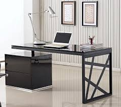 Black Office Desk Discount Furniture Warehouse Chicago Black Modern Desk
