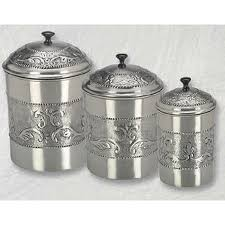 stainless steel canisters kitchen stainless steel kitchen canister set add an antique look to your