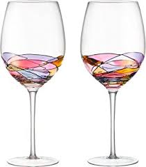 handcrafted and painted wine glasses by sonoma