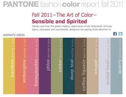 pantone fall colors 2011 laura irrgang