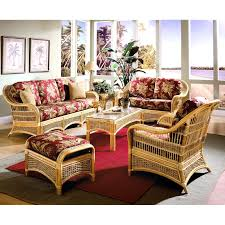 furniture cream ratan chair with red cuhsion sunroom furniture