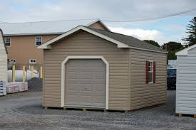 Overhead Shed Doors 12x16 Front Entry Peak Shed With 6 Overhead Door Pine Creek