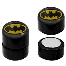 batman earrings batman oval logo faux magnetic earrings