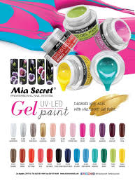 amazon com mia secret nail gel uv led paint 25 color availible