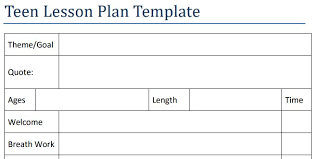 lesson plan template in my school