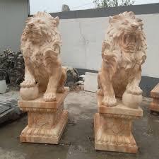 lion statues aliexpress buy carved gate decors lion sculpture