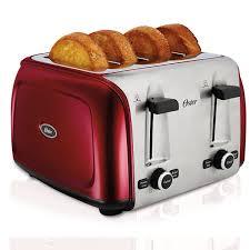 Toaster Glass Sides Oster 4 Slice Toaster Red Tssttr4srd Np Oster
