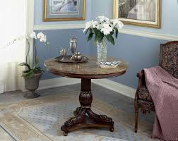 Small Round Tables by Round Foyer Table Rustic Farmhouse Pedestal Table Round Table