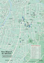 San Miguel De Allende Mexico Map by San Miguel Map