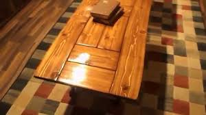 wood plank coffee table cedar plank coffee table and end table youtube