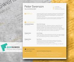 creative resume template goldenrod yellow a free clean word resume template freesumes