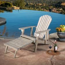 Wooden Recliner Chair Halley Outdoor Reclining Wood Adirondack Chair With Footrest 2
