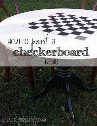 How To Paint A Table Diy Checkerboard Table Diy Beautify