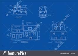 illustration of house blue print