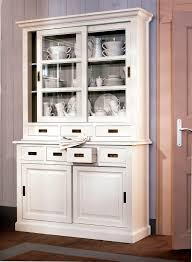 China Cabinets With Glass Doors Funiture Traditional Wooden China Cabinet And Buffet In White