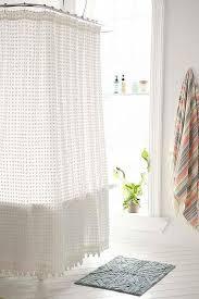 White Shower Curtain Navy And White Pom Pom Shower Curtain