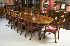 queen anne style dining room furniture used table thomasville