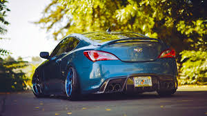 slammed jdm cars cars tuning hyundai genesis coupe stance slammed camber wallpaper