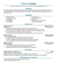 Resume For Spa Manager Best Massage Therapist Resume Example Livecareer
